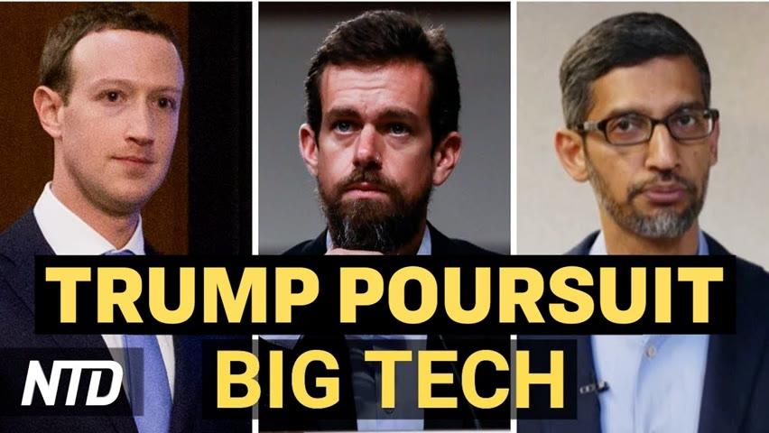 Trump attaque les Big Tech en justice ; Une firme chinoise récolte des données génétiques