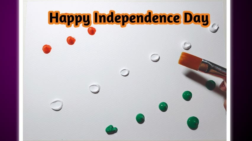Happy Independence Day independence day painting for beginners @Artist Shikha Sharma