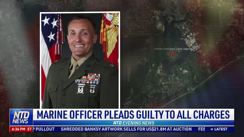 Marine Officer Pleads Guilty to All Charges