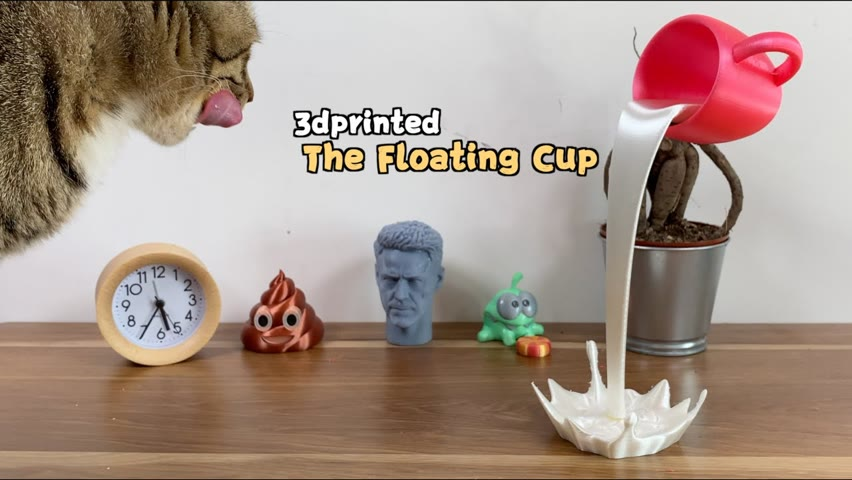 3D printed floating cup:an amazing design!#shorts