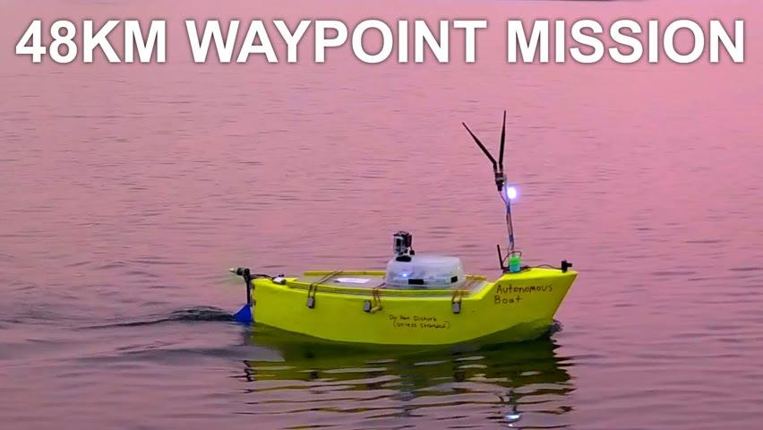 R/C Autonomous Boat 30 Mile Waypoint Mission