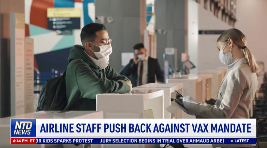 Airline Staff Push Back Against Vaccine Mandate