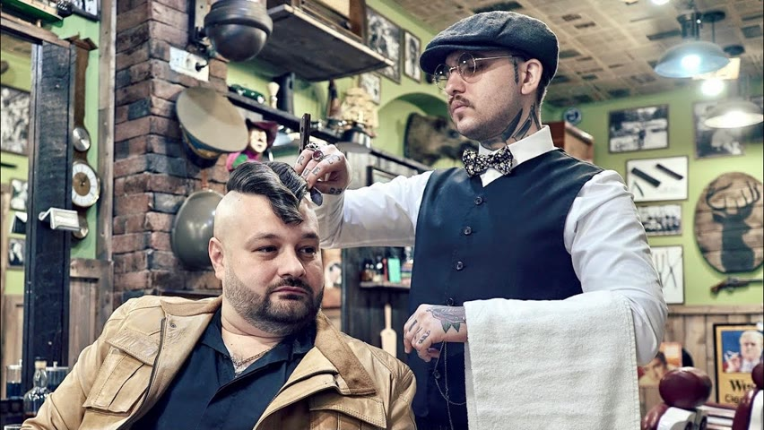 💈 ASMR BARBER - Disconnected JELLY ROLL - relaxing HEAD SHAVE & BEARD TRIM
