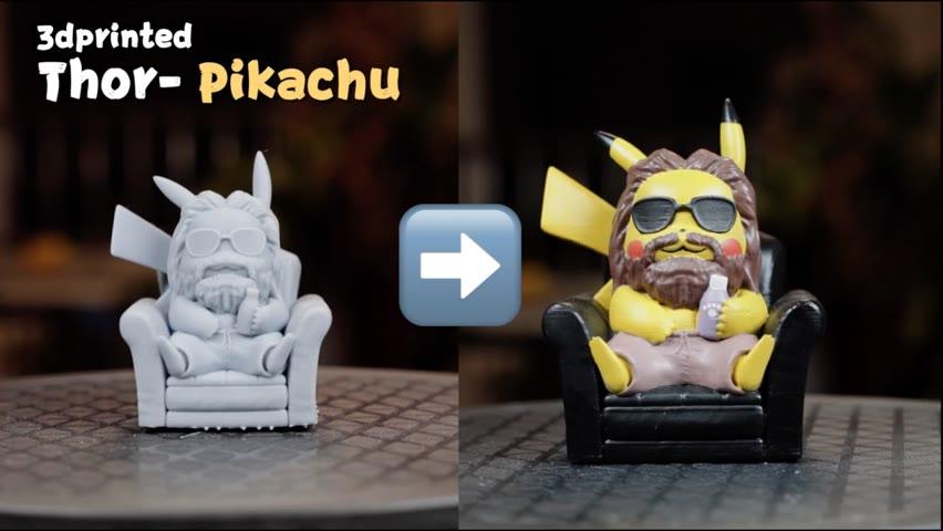 3D printed Thor-Pikachu and Tony stark!!!!#shorts