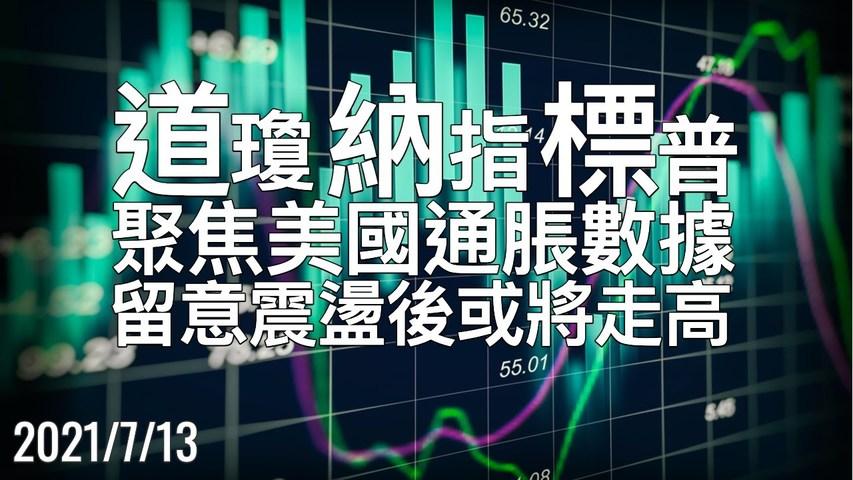 美股 聚焦通胀数据CPI公布,留意震荡后是否 再走高?或分歧 7/13