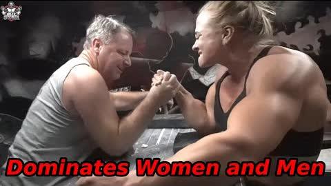 8 x Armwrestling Champion Sarah Bäckman Dominates Women and Men