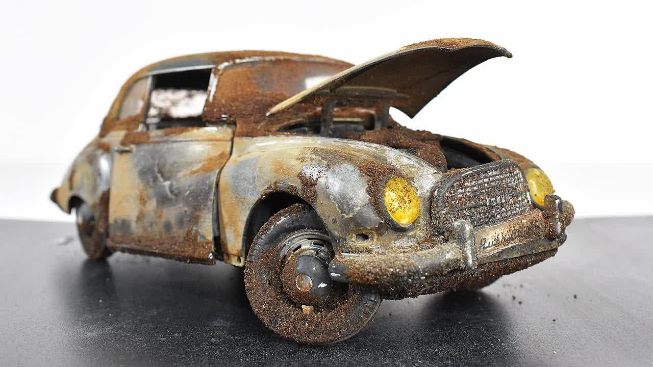 Restoration Abandoned Auto Union 1000s - Model Car