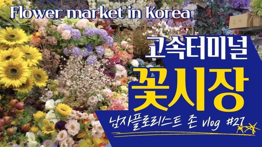 [#27 존플라워TV][남자 플로리스트 브이로그] 고속터미널 꽃시장 랜선 시장들이 / Korea Flower Market VLog