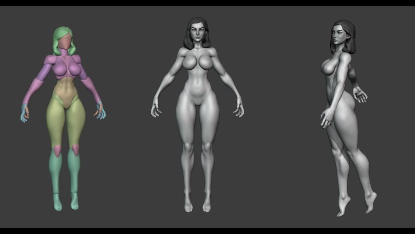 Study Female Body sculpting - Blender Sculpting