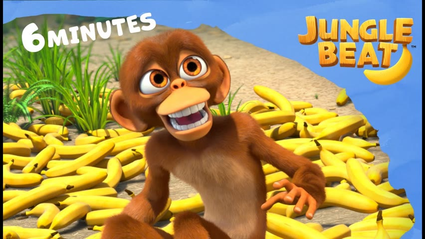 Busy Doing Nothing🐒🐘🍌 | Jungle Beat: Munki and Trunk | Kids Animation 2021