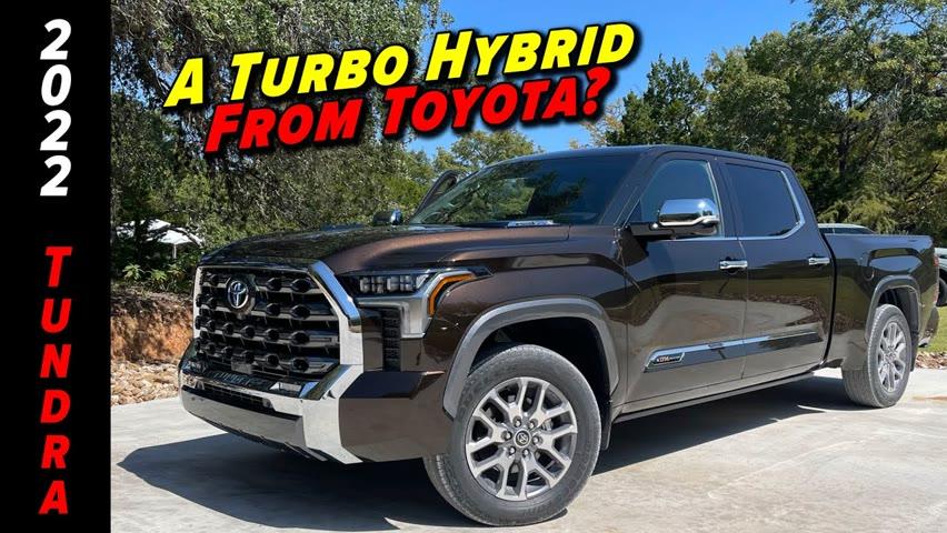 Toyota's Hotly Anticipated Hybrid Pickup Is Here   2022 Toyota Tundra Hybrid