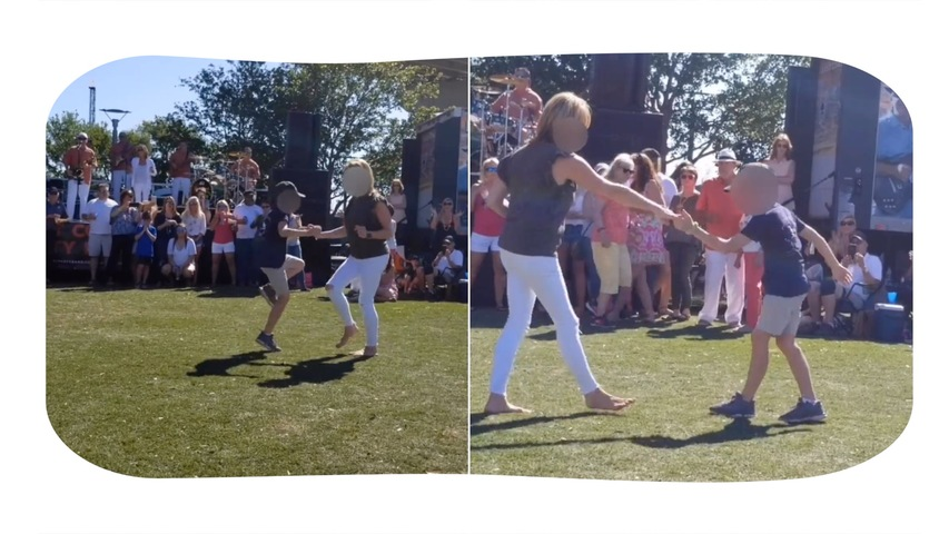 Mother and Son Dance for the Win