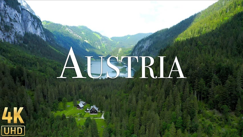 Austria 4K - Quite day in Hallstatt. Beautiful Relaxing Music & Nature Soundscapes - Relaxation Film