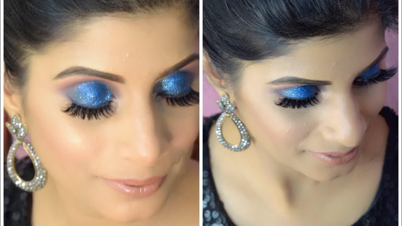 Navy Blue eye makeup   Instaglam makeovers   Mubeen sultana