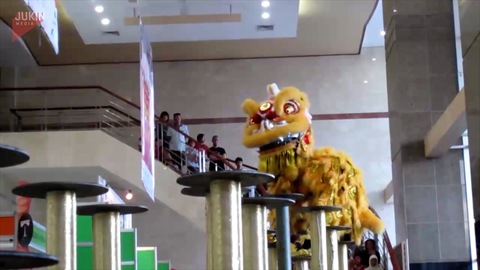 Chinese Dragon Performers Fall off Elevated Platform copy