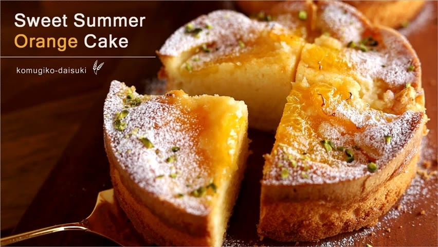 Sweet Summer Orange Cake|ジューシーうまっ♡甘夏バターケーキ❁ |komugikodaisuki【おやつVlog】