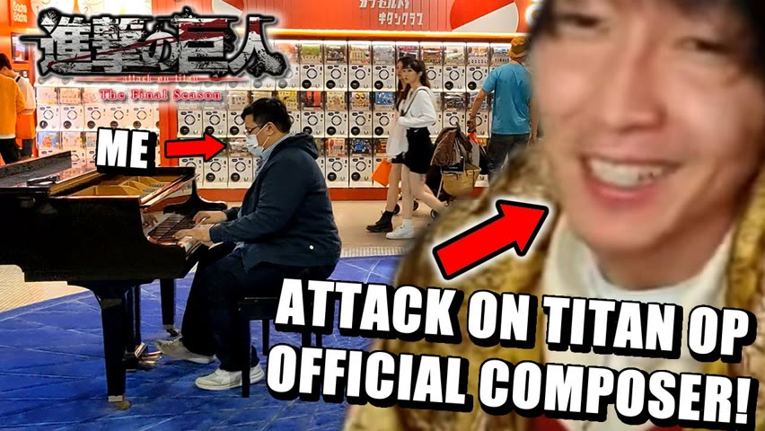 """Attack on Titan's Composer Reacts to my Cover of """"My War"""" (Opening)"""
