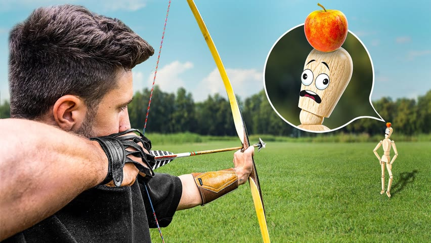 Archery Trick Shots with No Experience