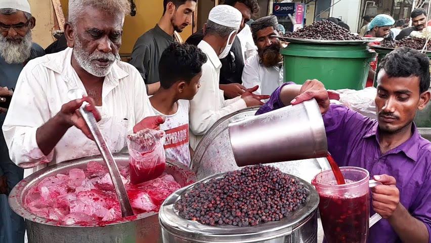 Falsa Sharbat | Refreshing Summer Street Drink | Phalsa Juice | Karachi Food Street