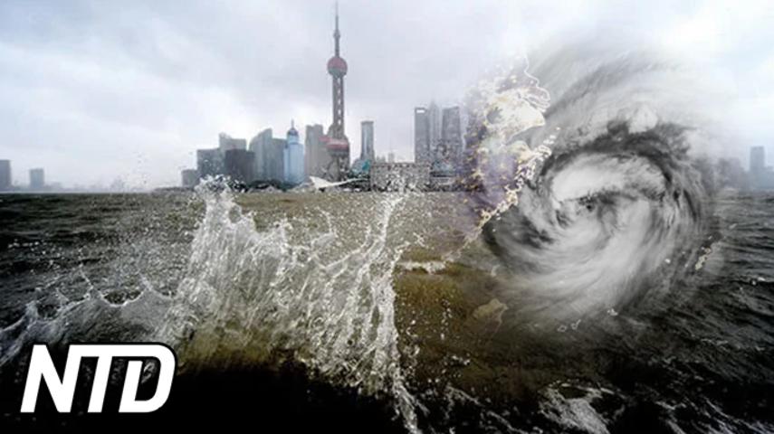 Tyfon drabbar Shanghaiområdet – 2 miljoner människor evakueras | NTD NYHETER