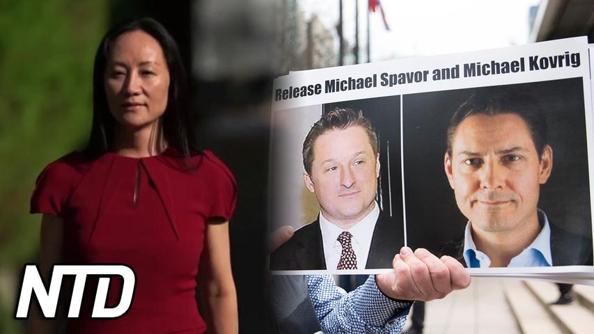 Kanadensare släppta efter frisläppandet av Huaweis ekonomichef | NTD NYHETER