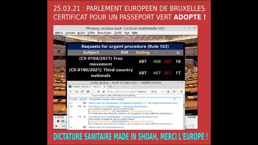 Adoption du passeport vert numérique au parlement européen