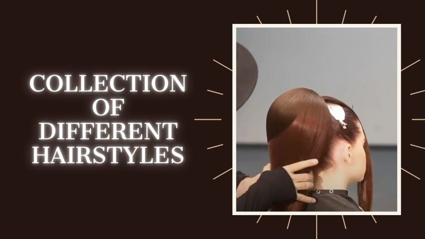 Collection of different hairstyles.