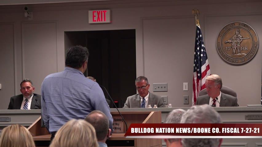 Boone Co Fiscal Court Hearing July 27, 2021/Bulldog Nation News