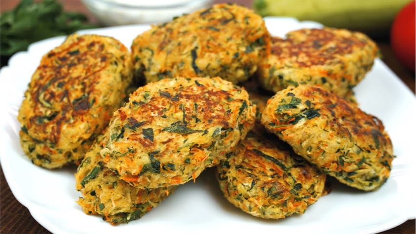 How To Make Zucchini Fritters | Very Tasty Vegetarian Appetizer | Healthy Recipes With Zucchini