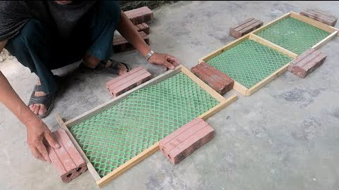 Ideas From Plastic Netting and Cement - How To Build Waterfall Aquarium Very Simple