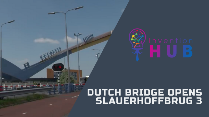 Dutch bridge opens - Slauerhoffbrug 3