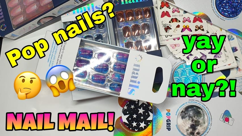 📫 NAIL MAIL!   Come hang out with me   Popsocket Nails?!   Nail art goodies!