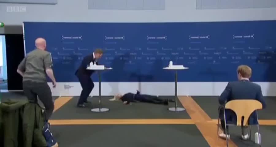 WOW WATCH what happens to a Denmark govt official on live tv after taking the vaccine .