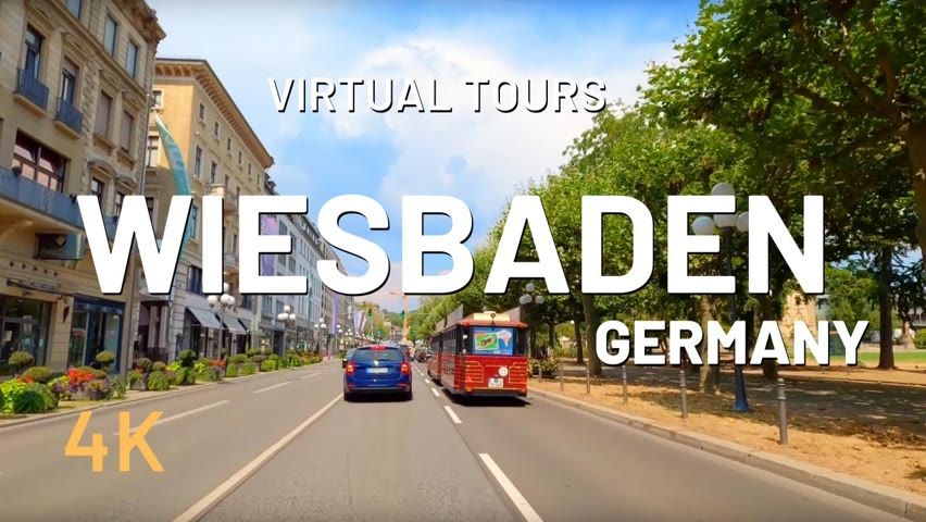 WIESBADEN driving tour 🇩🇪 Germany 4K Video Tour