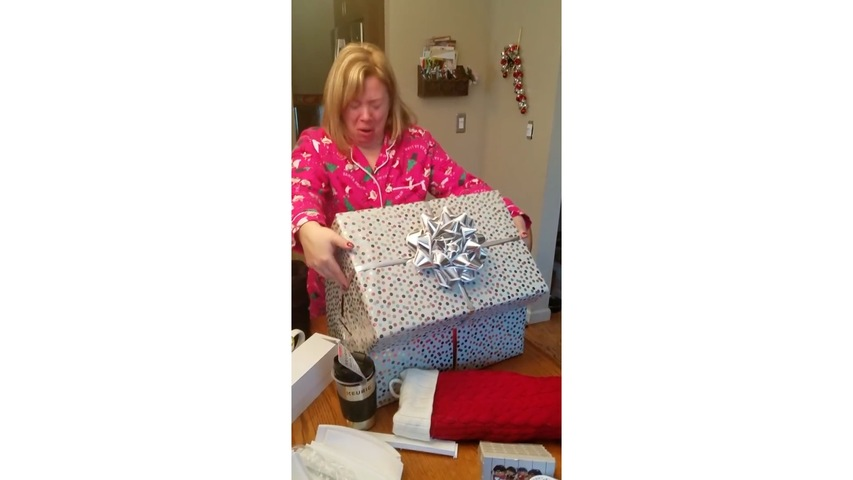 Woman Gives Priceless Reaction on Receiving Puppy For Christmas