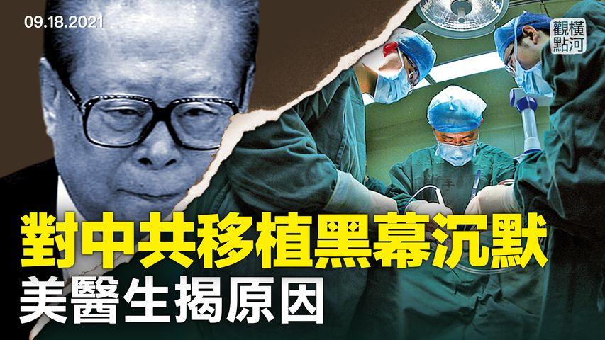 醫生披露為何世界對中共器官移植背後黑幕視而不見,相信但不說,醫學界的共同利益綑綁不僅在疫情和器官移植,中共快速找到器官供體誰最先曝光的? | 橫河觀點 | 專家評論 2021.09.18