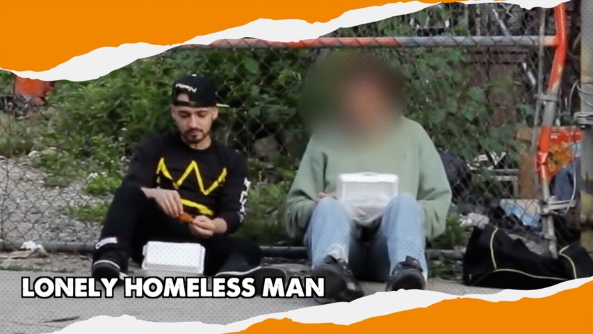 LONELY HOMELESS MAN