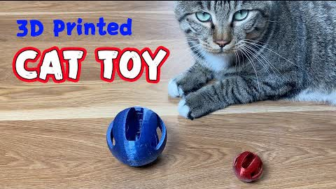 3D Printed Cat Toy: Why doesn't he like it?😥