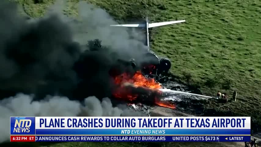 Plane Crashes During Takeoff at Texas Airport