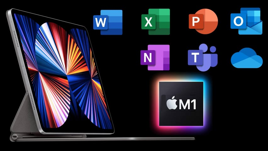 Microsoft Office on the NEW M1 iPad Pro 2021 – How GOOD is Multitasking & Compatibility?