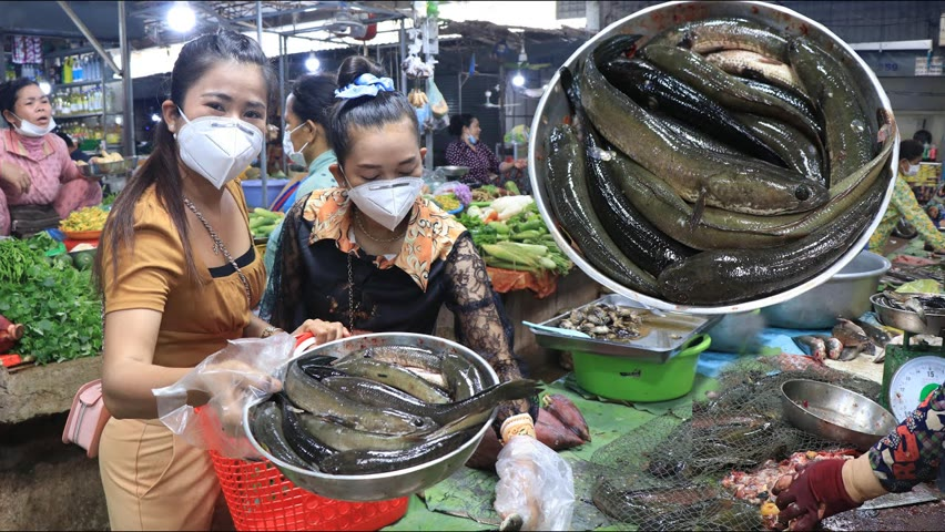Market show, go to market with my sister to buy fish for cooking / Countryside life TV