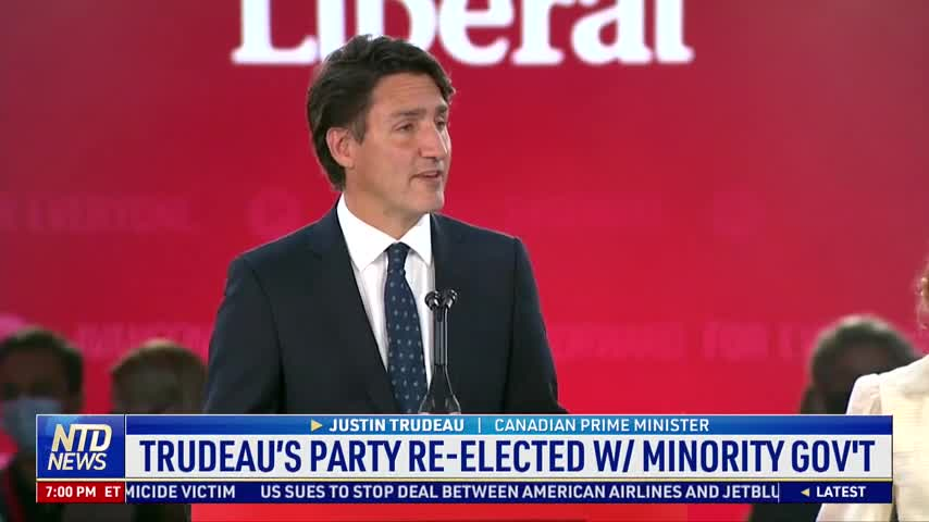 Trudeau's Party Re-elected With Minority Government
