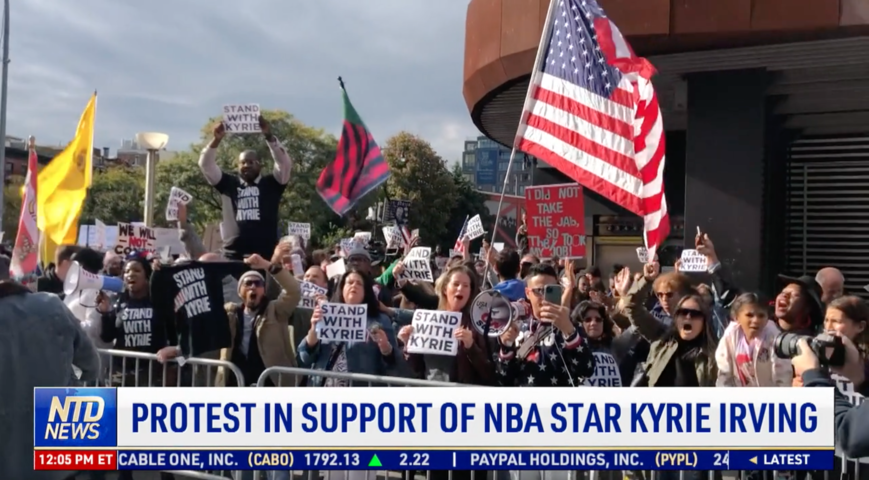 Protest in Support of NBA Star Kyrie Irving