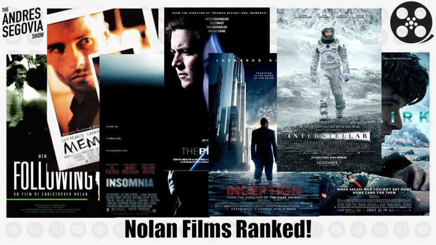 Ranking The Christopher Nolan Films!
