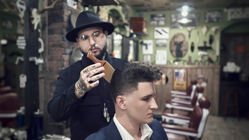 💈 ASMR BARBER - How to Get the most out of your CURLY HAIR ➡️ Old Style Haircut