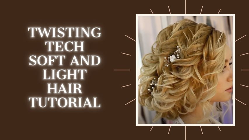 Twisting tech. soft and light hair tutorial!