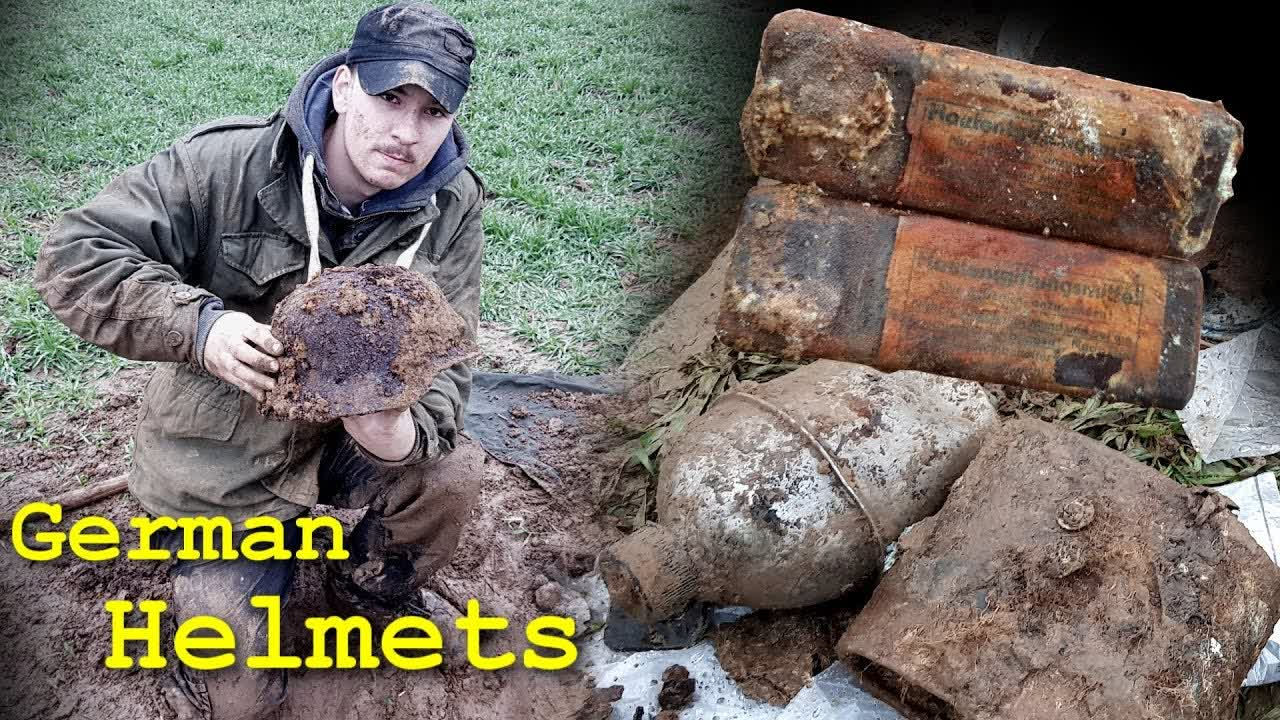 Metal Detecting WW2 - German Helmets and Much More Found!! [ HUGE WWII DUMP DISCOVERED ] - PART 3