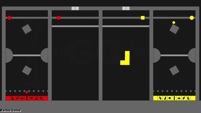 Tetris 01 - Marble Race in Algodoo