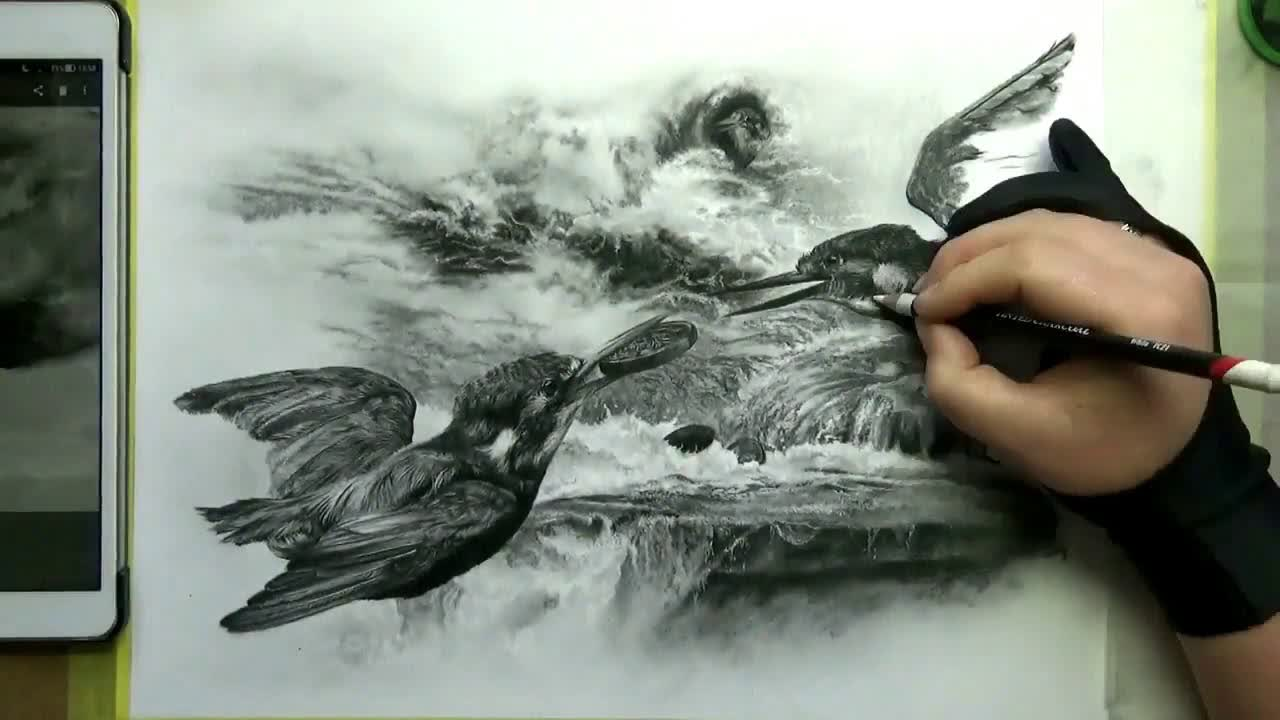 Rebecca Gouverneur - Kingfisher Speed Painting