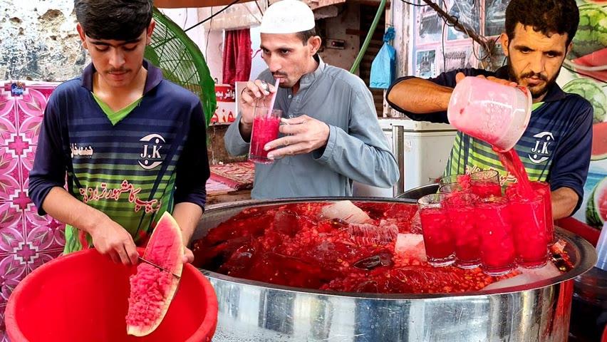 Refreshing Watermelon Juice | Summer Street Drink | 30/- Juice | Amazing Watermelon Cutting Skills